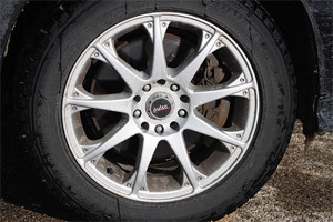 A standard automobile tire.